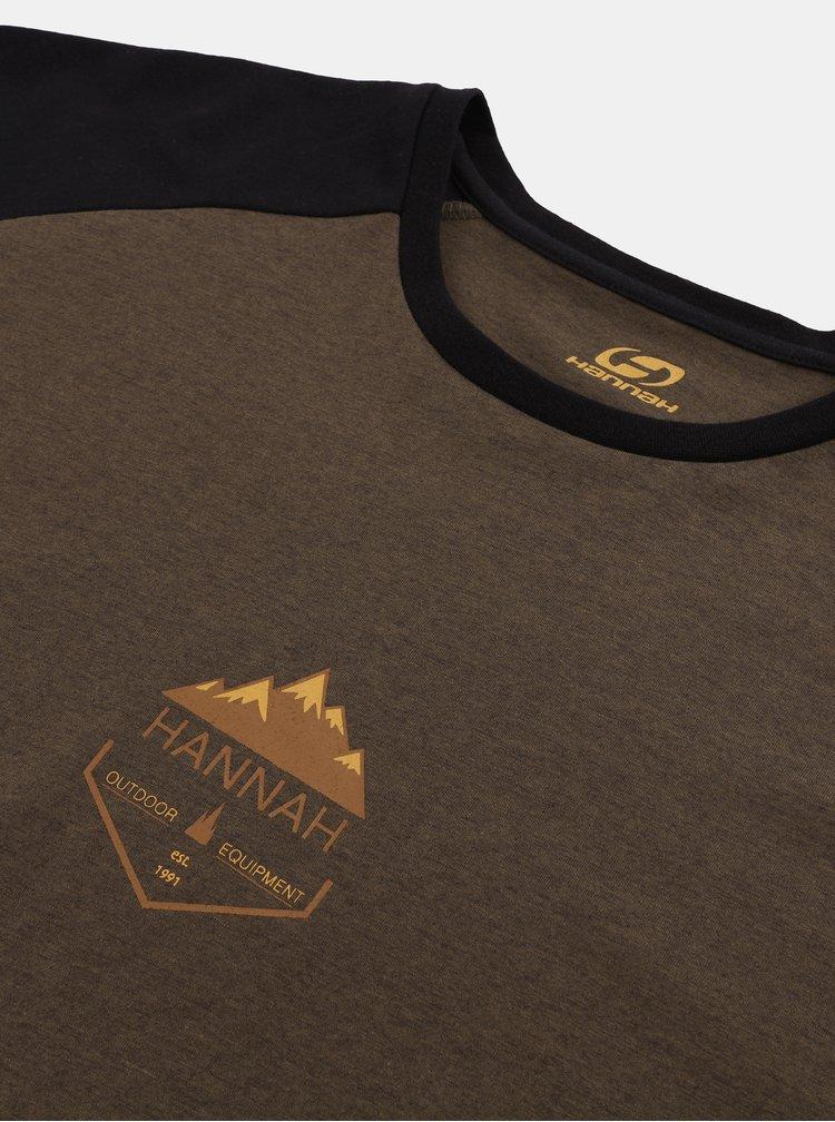 Hnědé pánské tričko Hannah