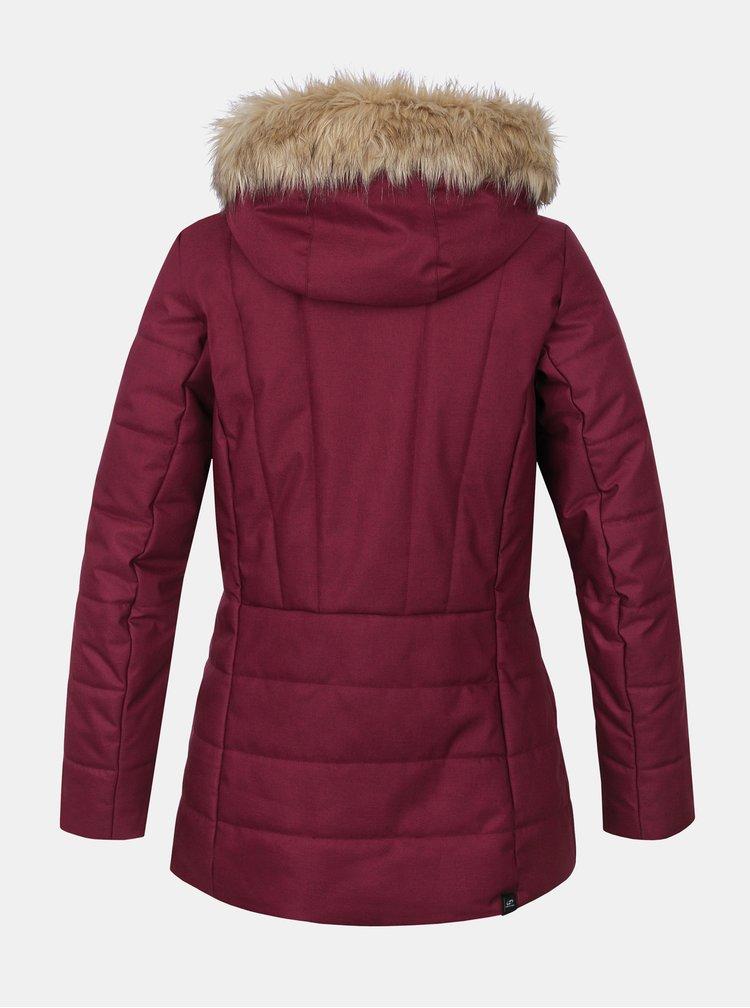 Vínová dámská zimní bunda Hannah