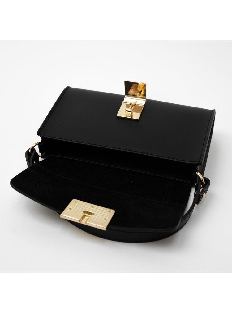 Černá kabelka Loro Oro Gigi baguette