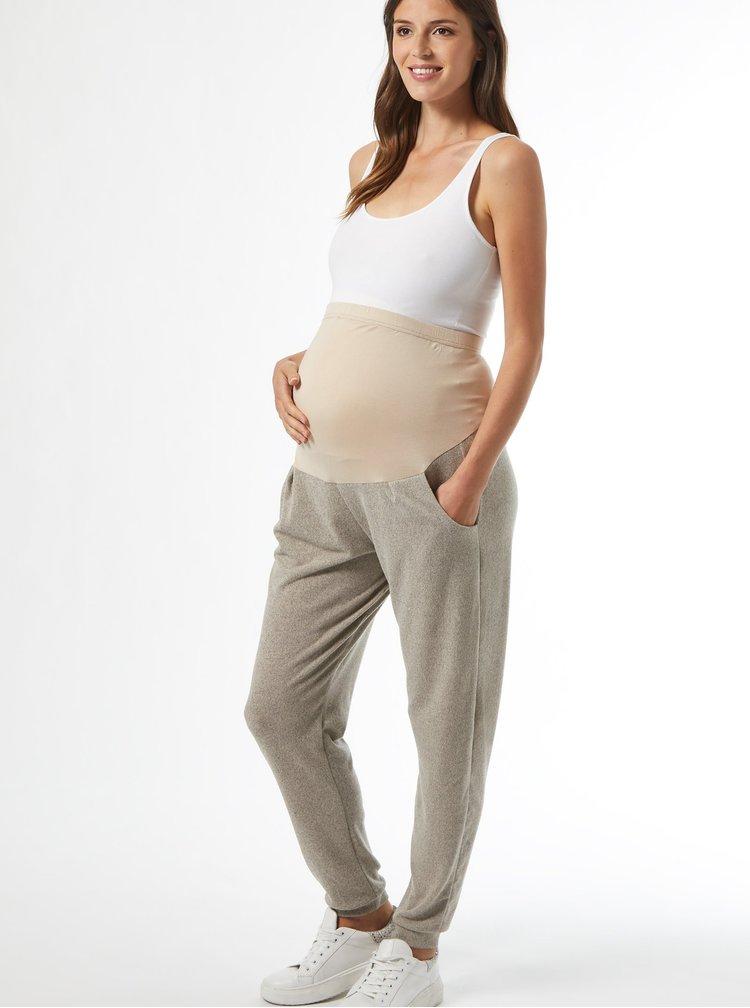 Béžové těhotenské tepláky Dorothy Perkins Maternity