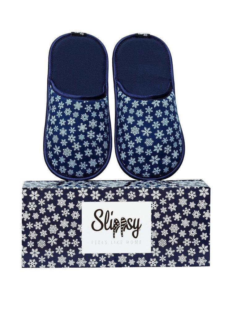 Slippsy modré unisex domácí pantofle Blue Snowflake