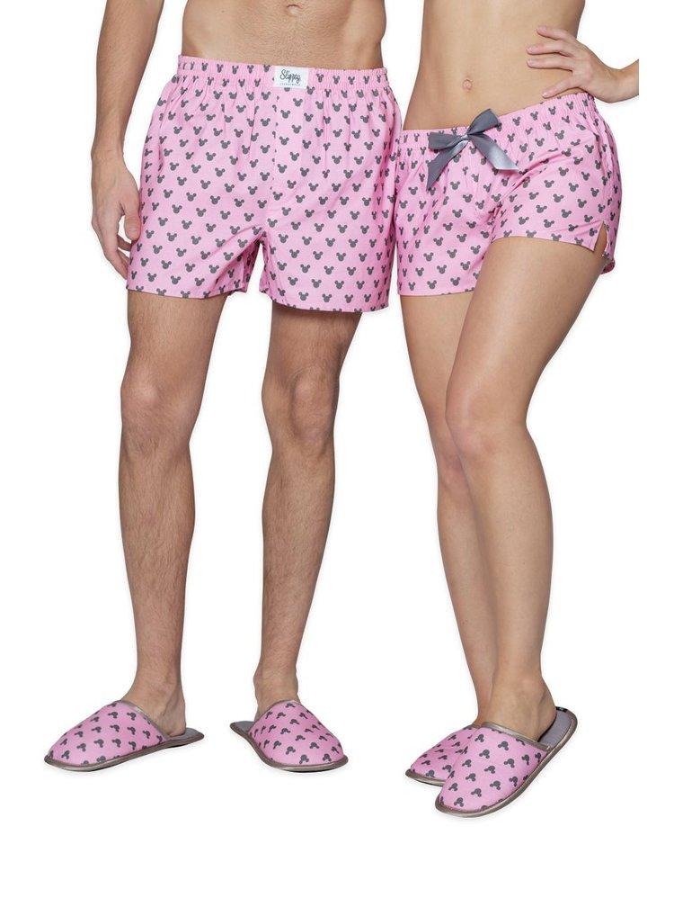 Slippsy růžové unisex domácí pantofle Minnie