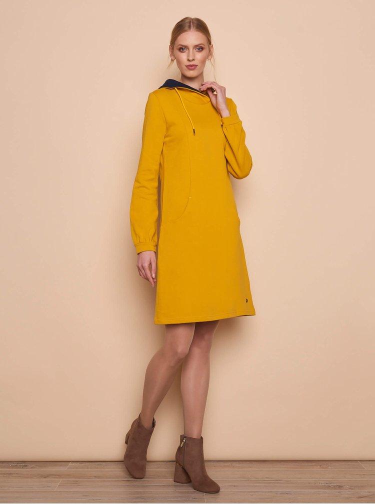 Rochii tip hanorac sau pulover pentru femei Tranquillo - galben