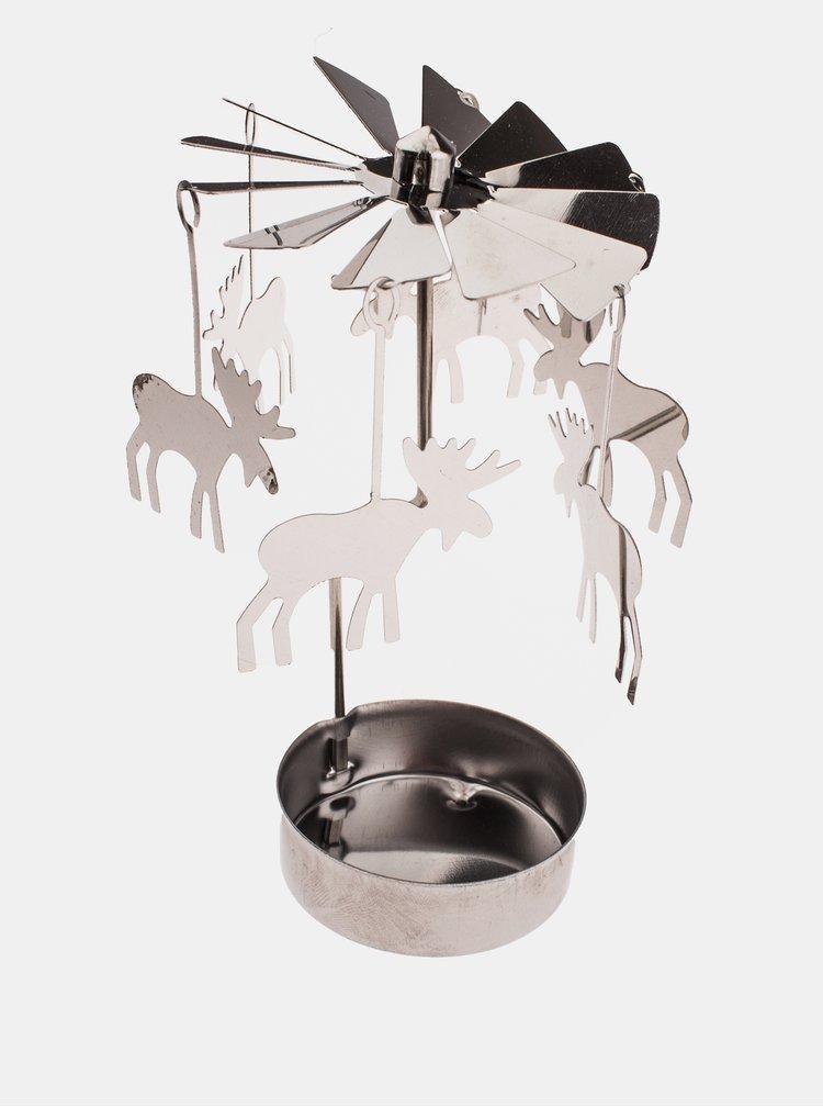 Vánoční dekorace se soby ve stříbrné barvě Dakls