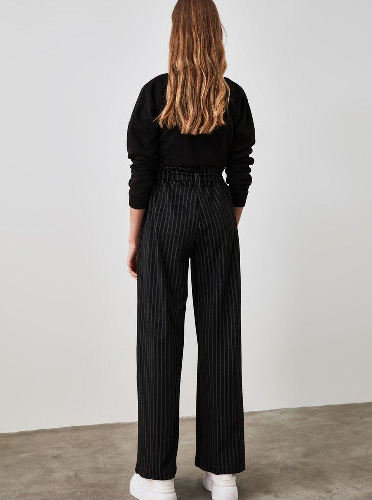 Pantaloni chino pentru femei Trendyol - negru