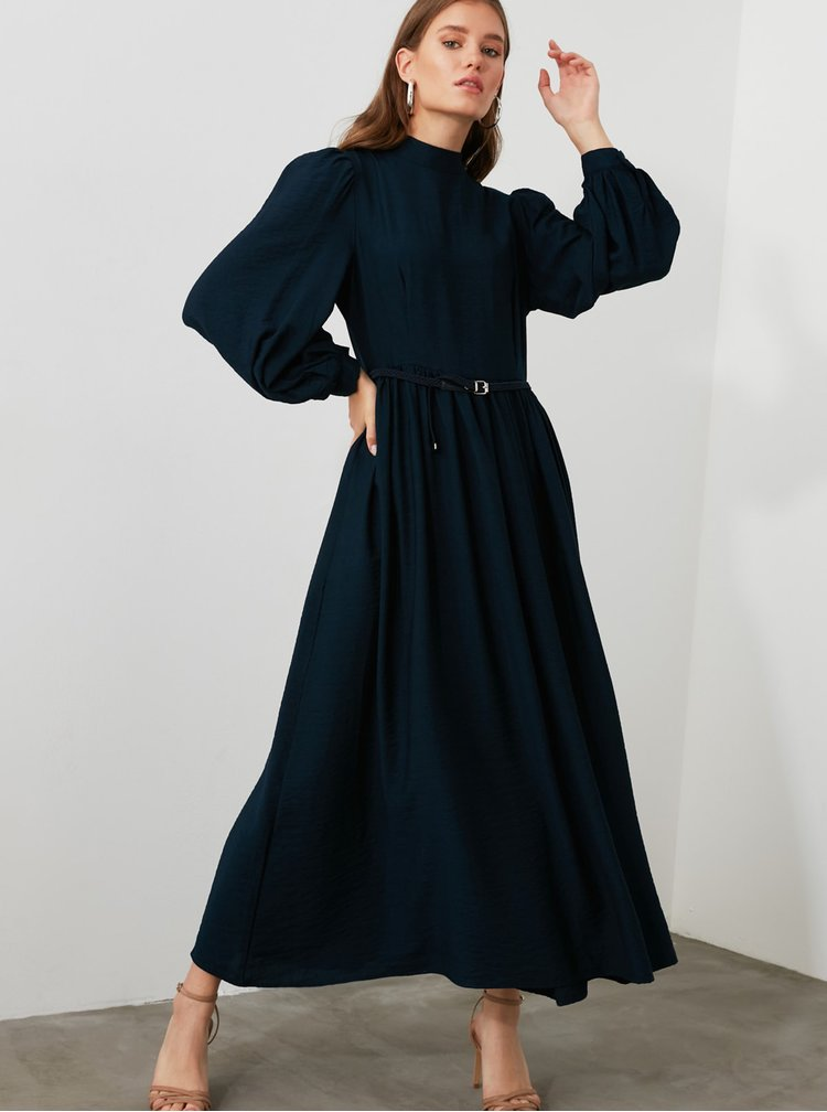 Rochii casual pentru femei Trendyol - albastru inchis