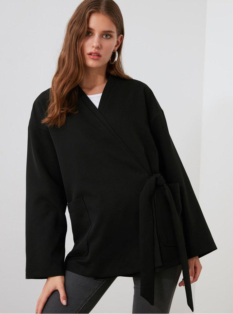 Cardigane pentru femei Trendyol - negru