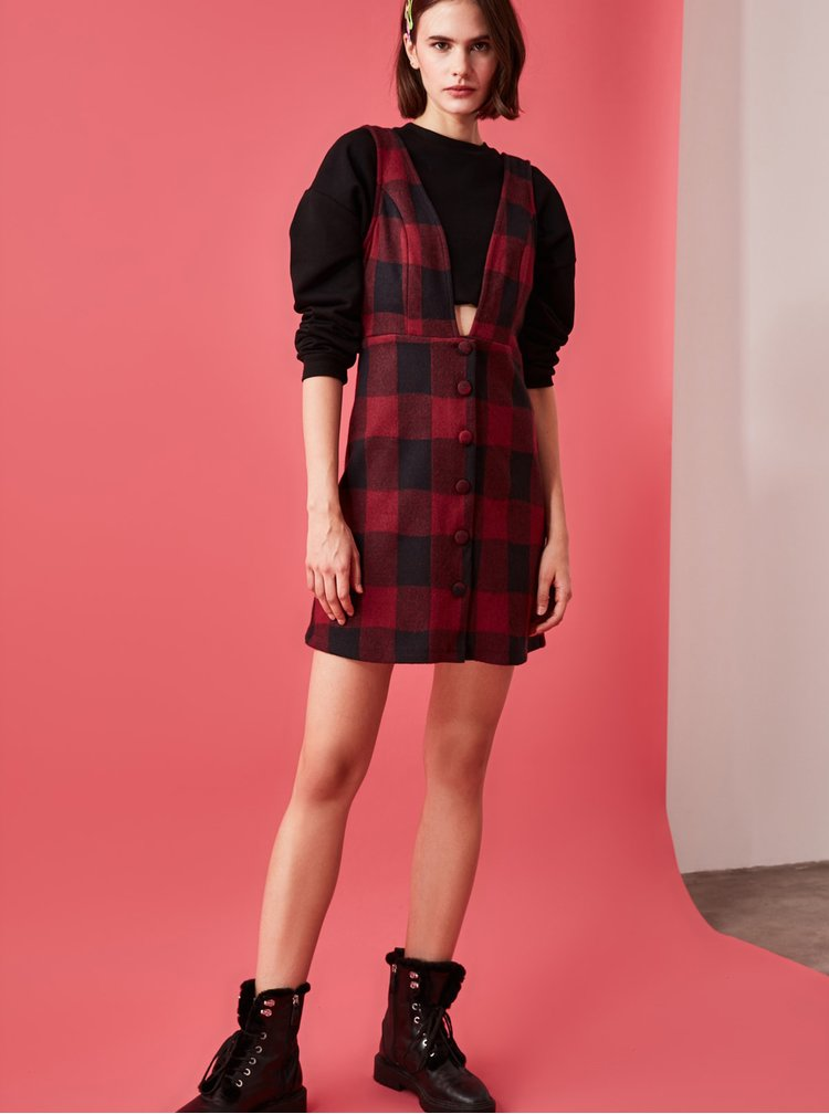 Rochii casual pentru femei Trendyol - rosu, negru