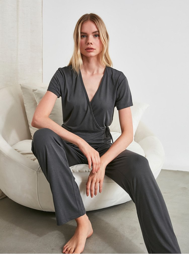 Pijamale pentru femei Trendyol - gri inchis