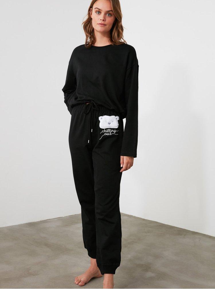 Pijamale pentru femei Trendyol - negru