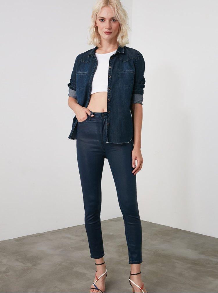 Skinny fit pentru femei Trendyol - albastru inchis