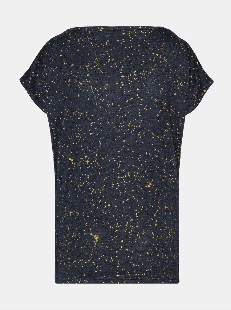 Tmavě šedé dámské vzorované tričko SAM 73