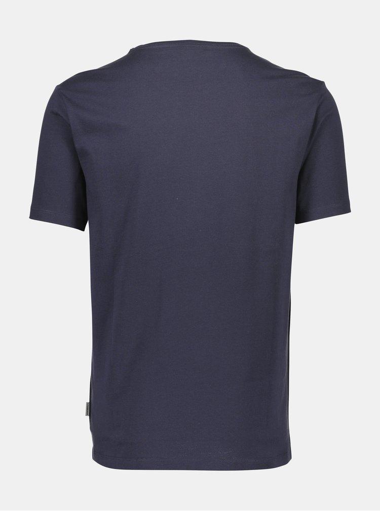 Tricouri basic pentru barbati Lindbergh - albastru inchis