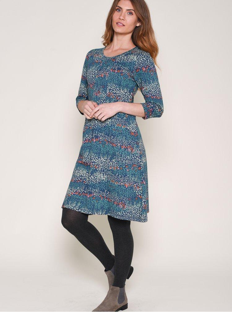 Modré vzorované šaty Brakeburn