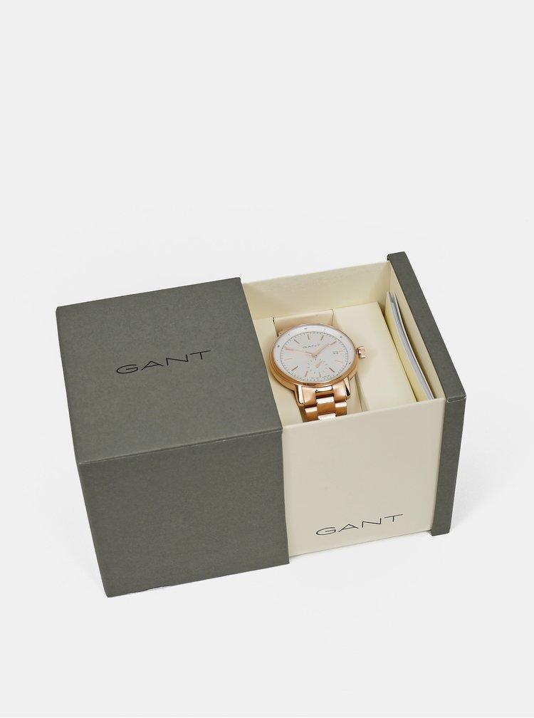 Dámské hodinky s rose gold nerezovým páskem GANT