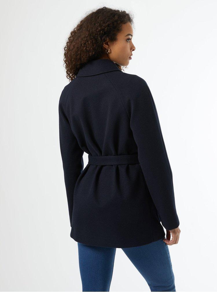 Tmavě modrý zimní krátký kabát Dorothy Perkins Tall
