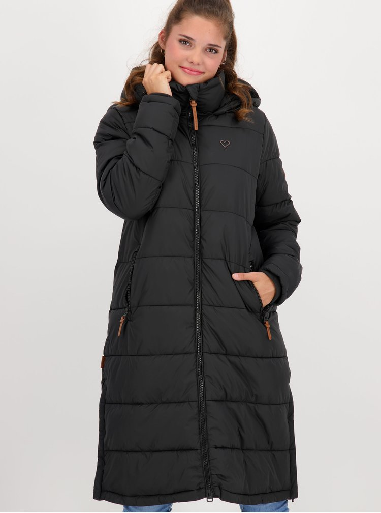 Černý dámský zimní kabát Alife and Kickin