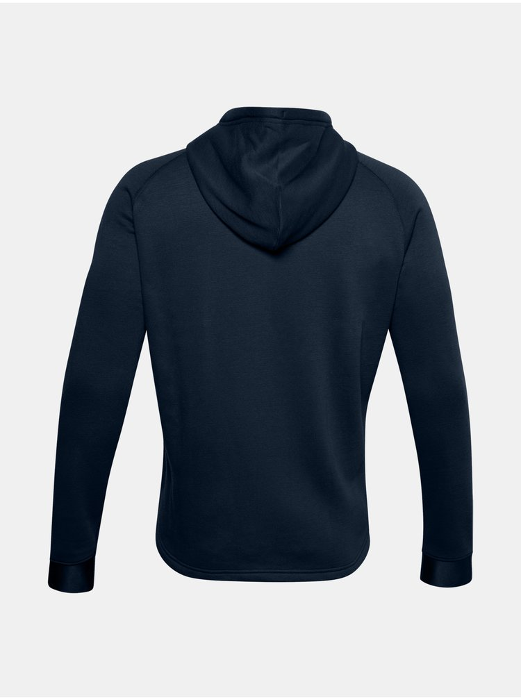 Mikina Under Armour Charged Cotton FLC FZ HD-NVY