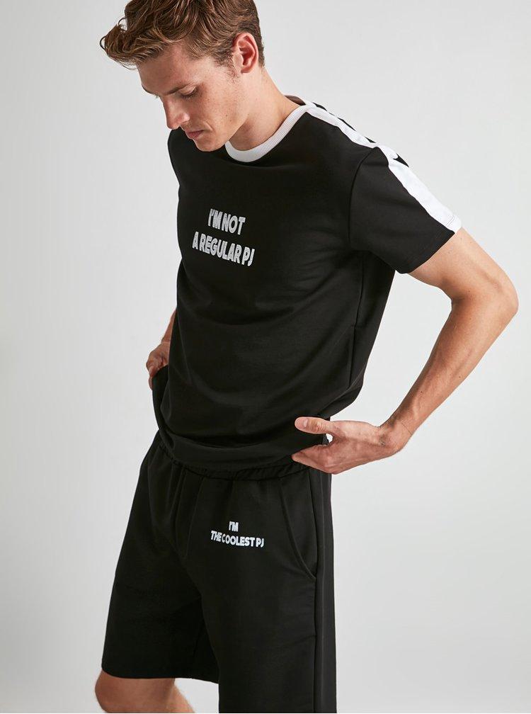 Černé pánské pyžamo Trendyol