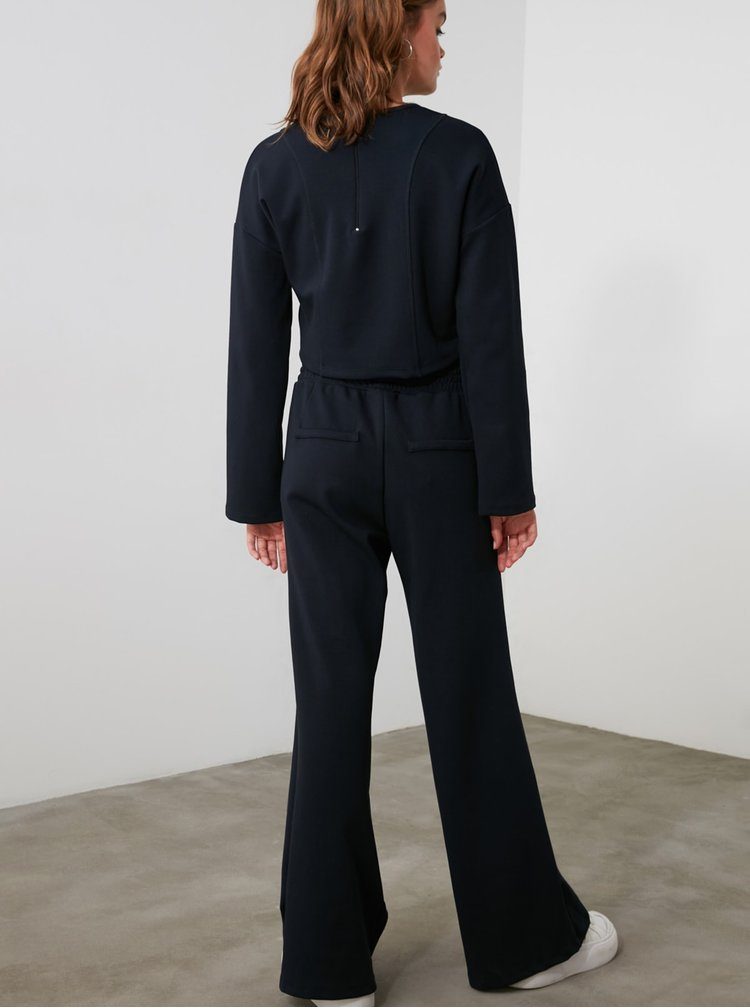 Pantaloni sport pentru femei Trendyol - albastru inchis