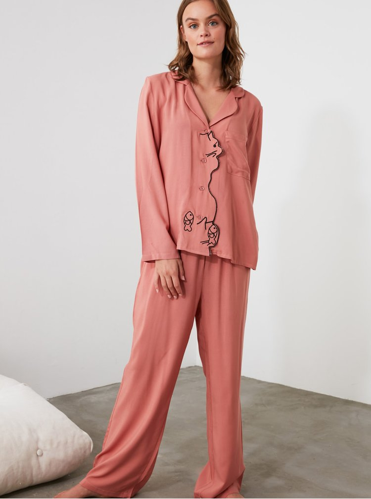 Pijamale pentru femei Trendyol - roz