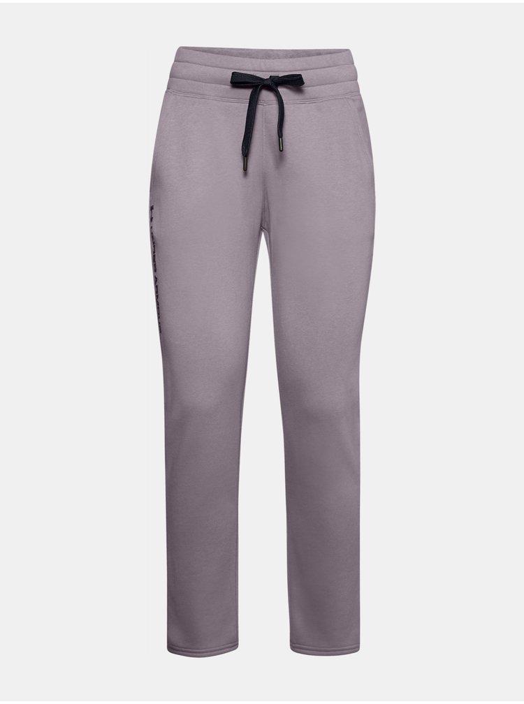 Tepláky Under Armour Rival Fleece Pants - světle fialová