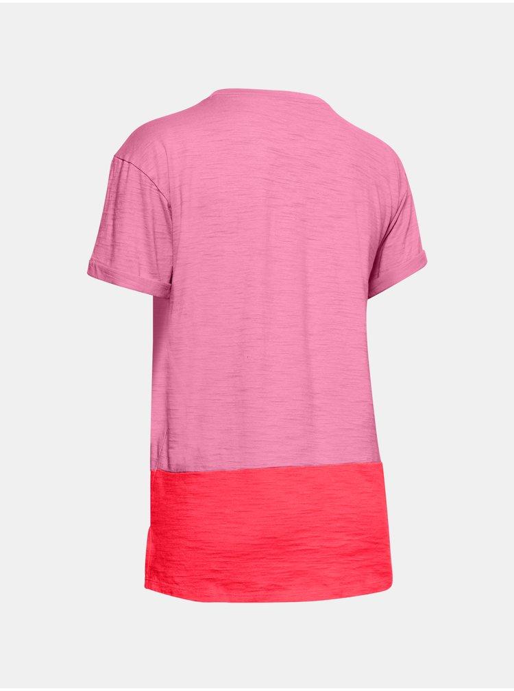 Tričko Under Armour Charged Cotton SS - růžová