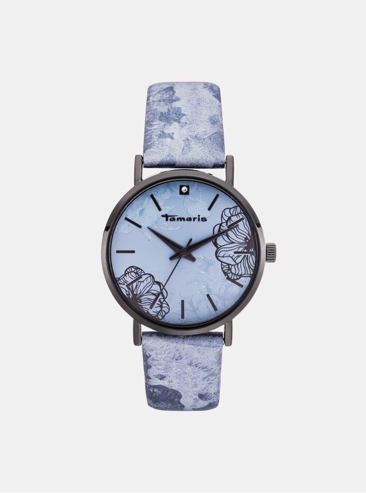 Dámské hodinky s modrým páskem Tamaris