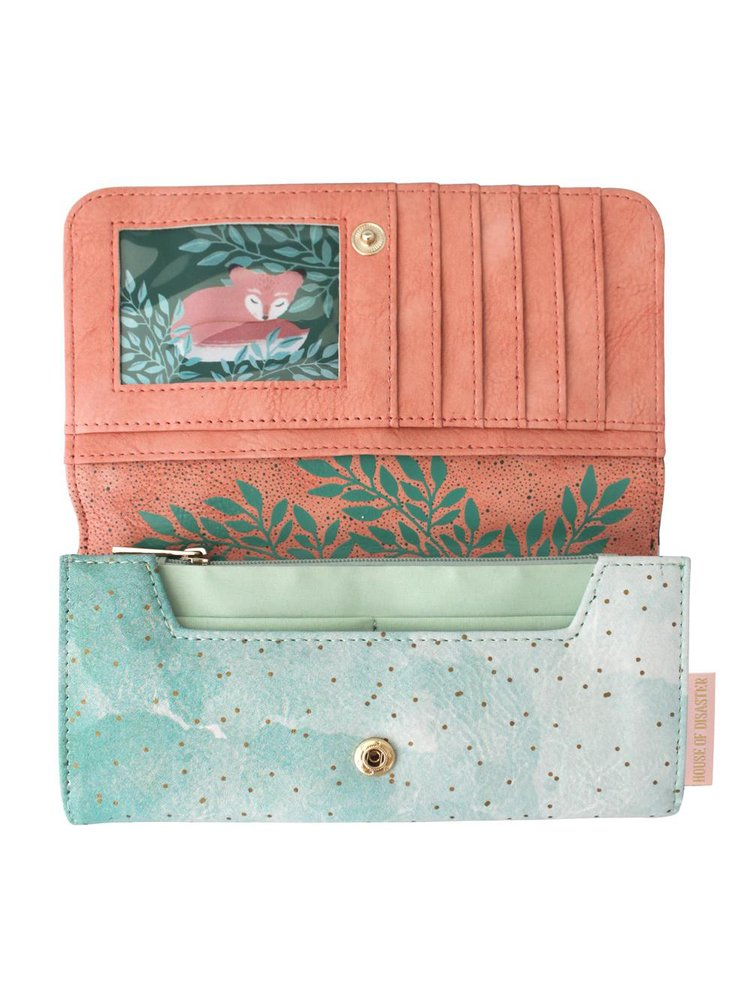 Disaster zelená peněženka Secret Garden Fox Wallet