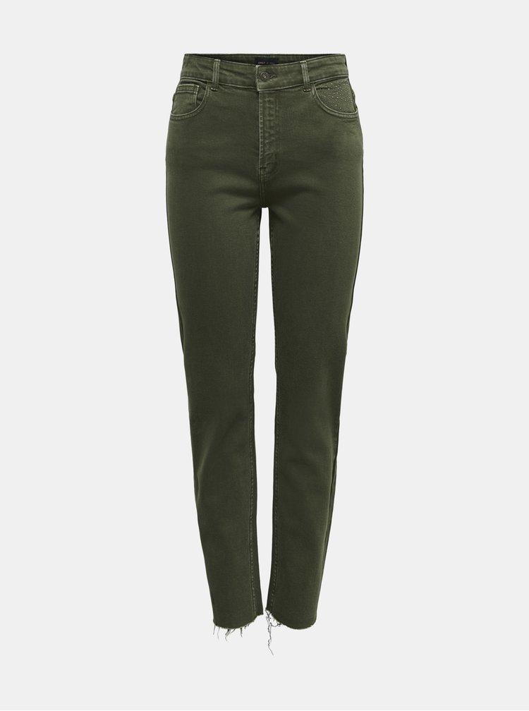 Khaki straight fit džíny ONLY