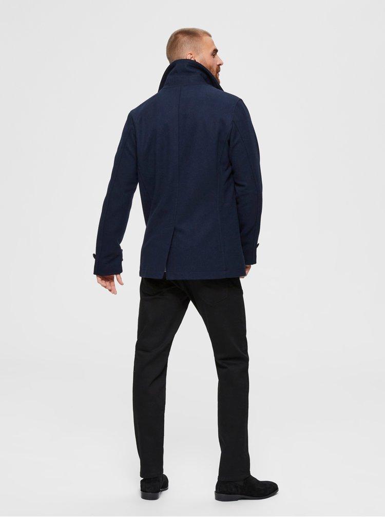 Tmavě modrý kabát Selected Homme