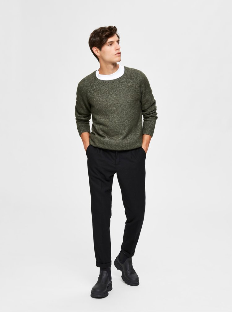 Khaki svetr Selected Homme