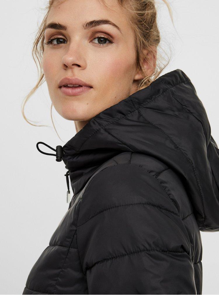 Černý prošívaný kabát VERO MODA Mikkola