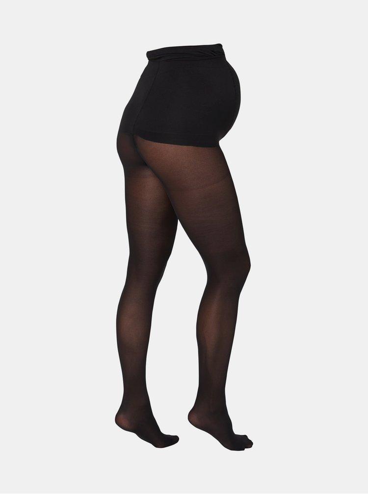 Sada dvou černých těhotenských punčochových kalhot Mama.licious