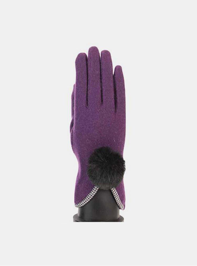 Fialové dámske dotykové rukavice Something Special