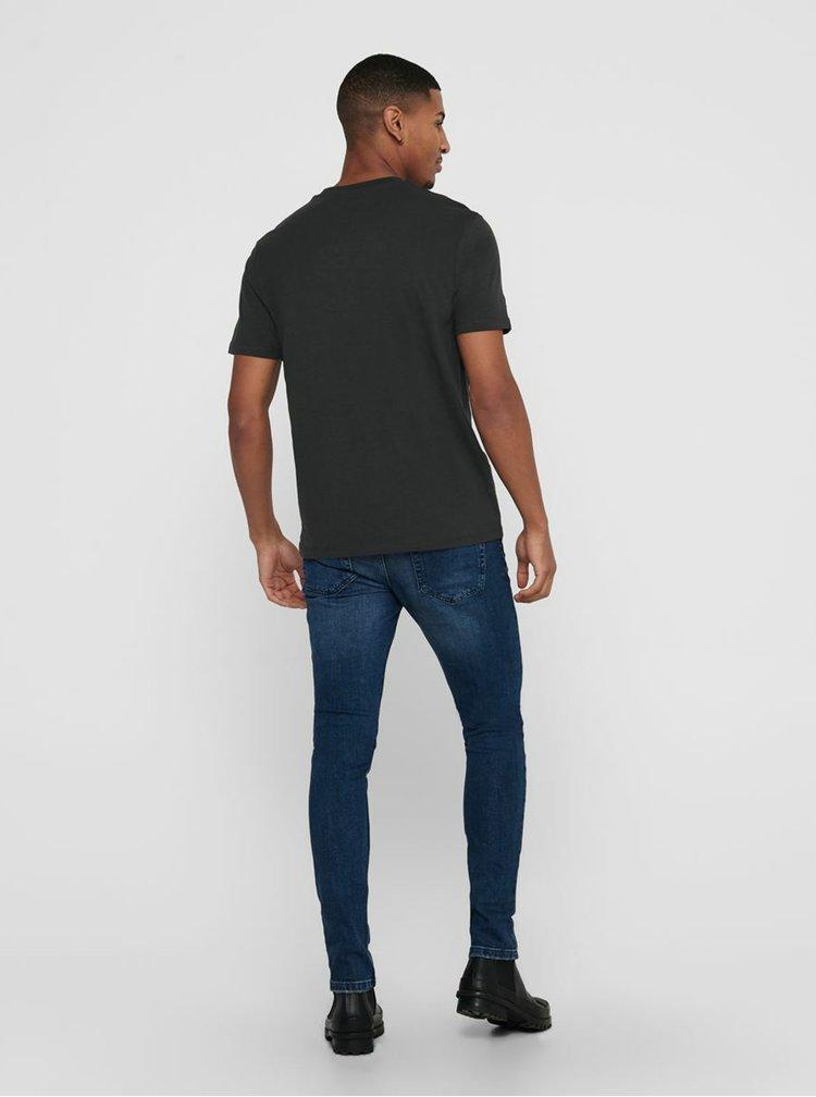 Tmavě šedé tričko ONLY & SONS