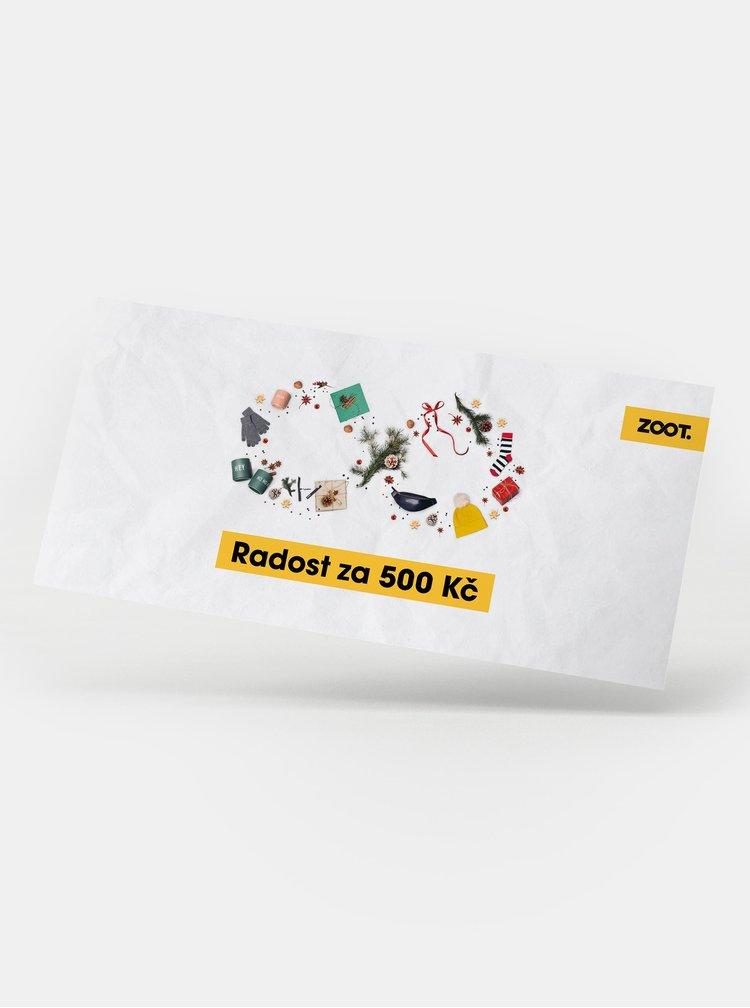 Vánoční dárkový poukaz na ZOOT v hodnotě 500 Kč