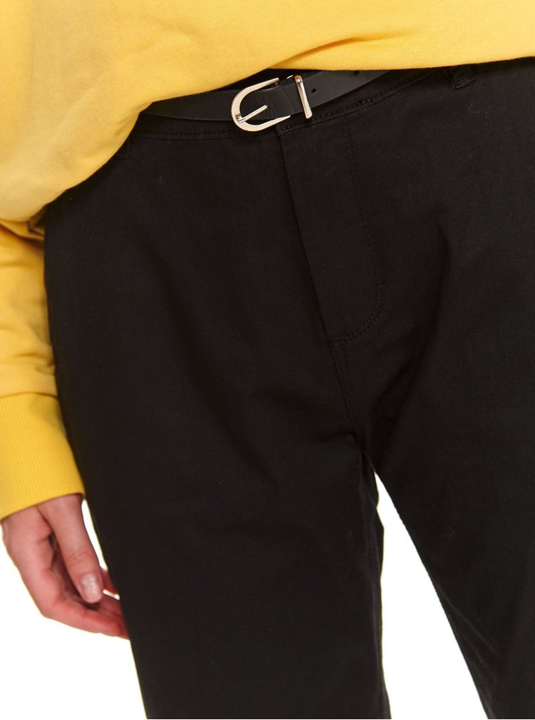 Pantaloni chino pentru femei TOP SECRET - negru