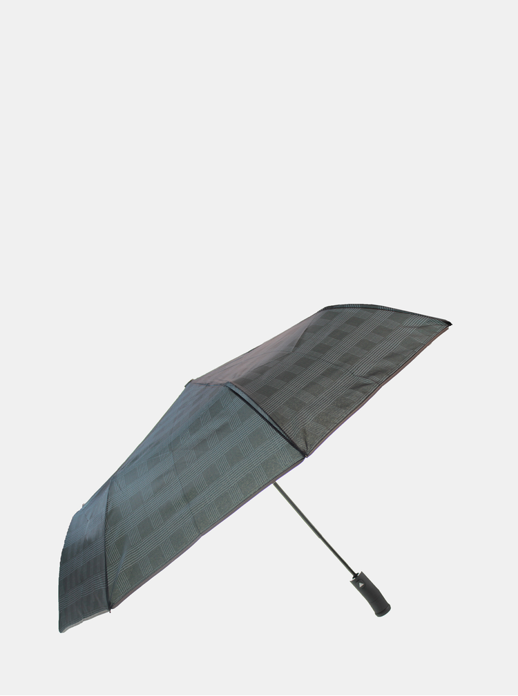 Tmavě šedý pánský deštník se světlem Something Special