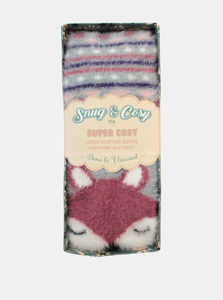 Šedé dámské vzorované ponožky Something Special