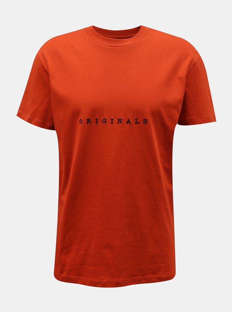 Tricouri pentru barbati Jack & Jones - oranj
