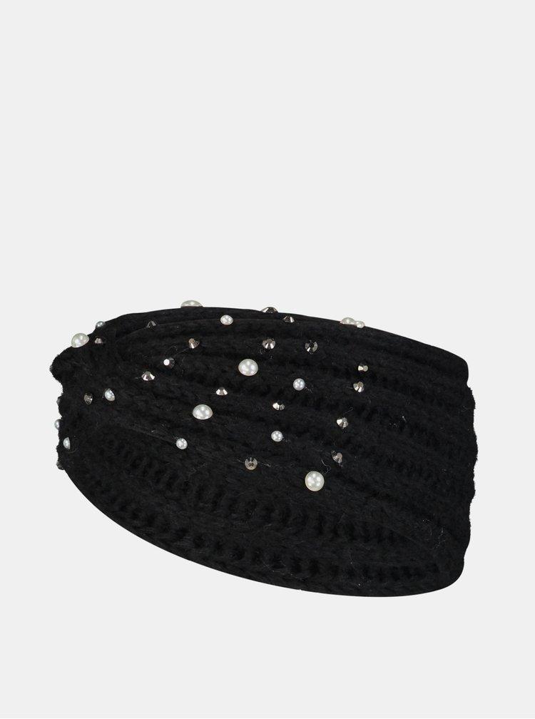 Černá čelenka s flitry Hailys