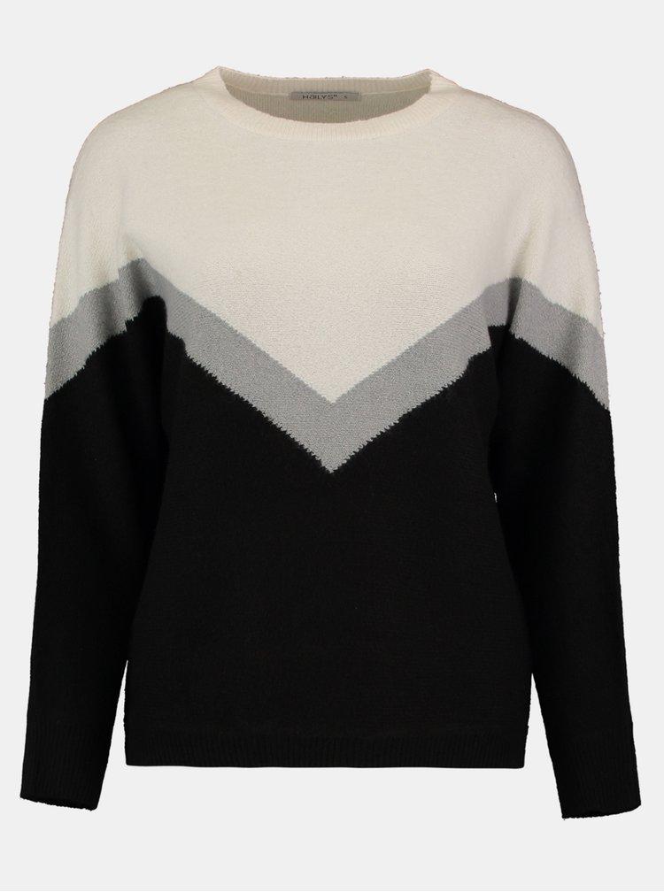 Pulovere pentru femei Hailys - negru, crem