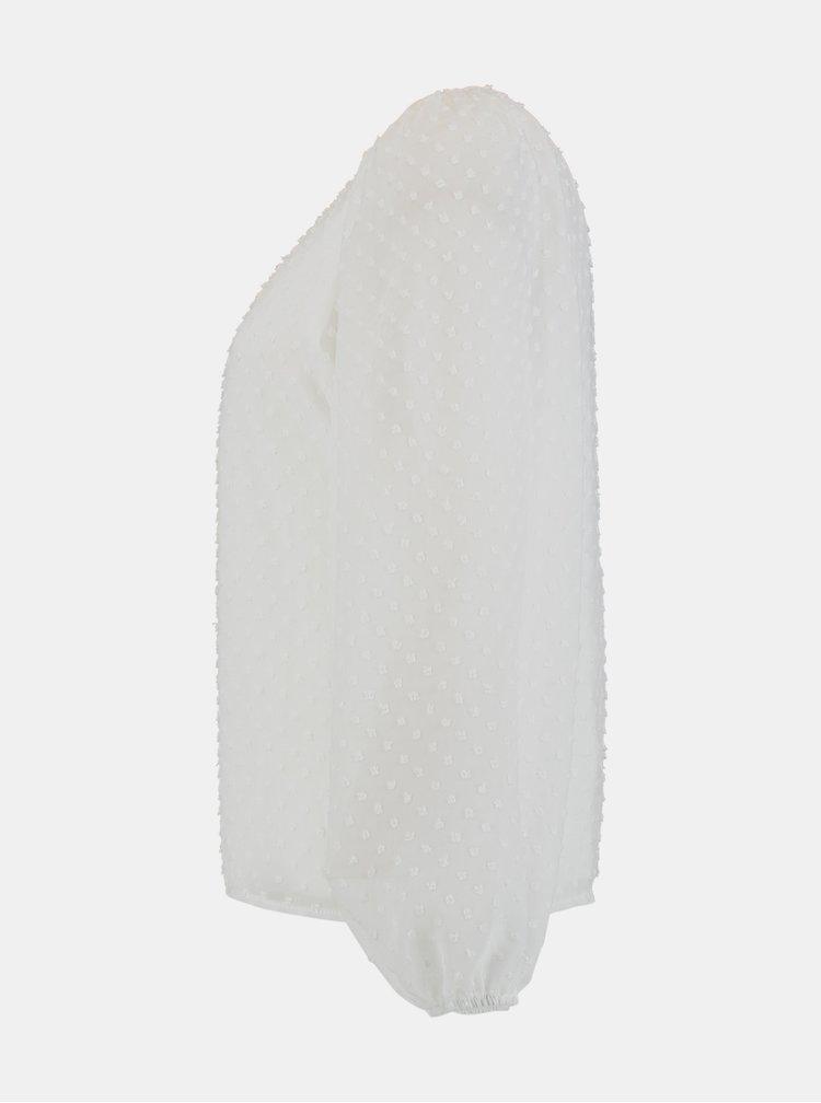 Bílá volná halenka Hailys