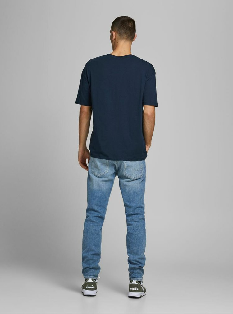 Tricouri pentru barbati Jack & Jones - albastru inchis