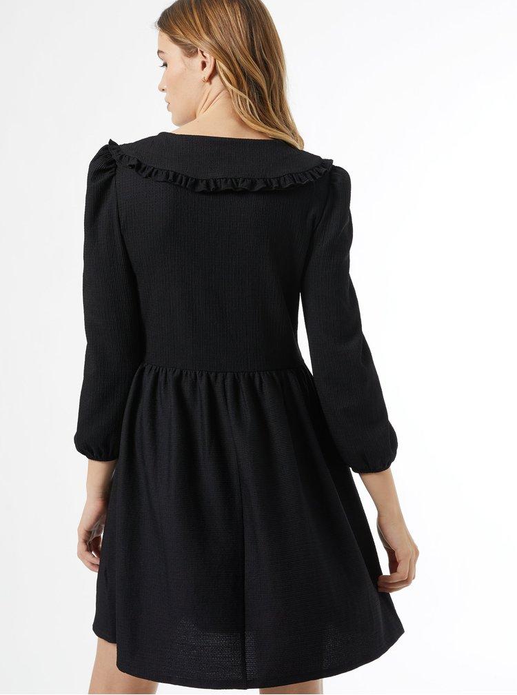 Černé šaty s límečkem Dorothy Perkins