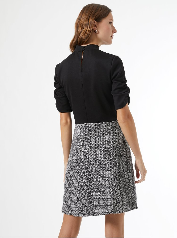 Šedo-černé šaty Dorothy Perkins