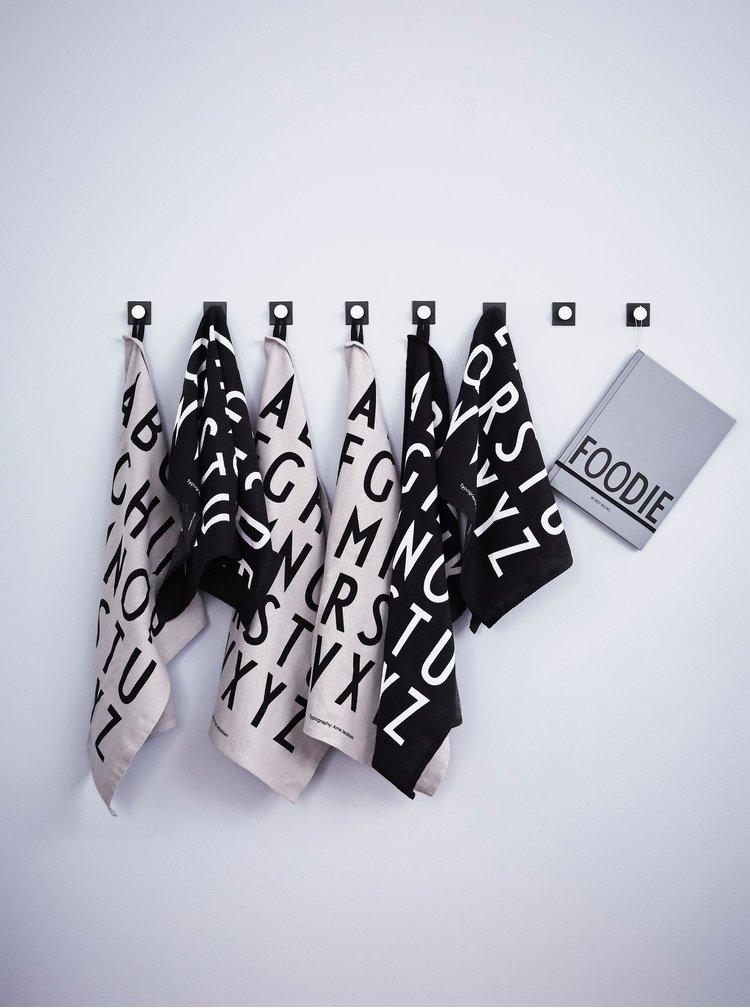 Textile pentru bucatarie Design Letters - negru
