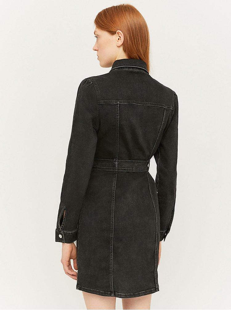 Černé džínové košilové šaty TALLY WEiJL