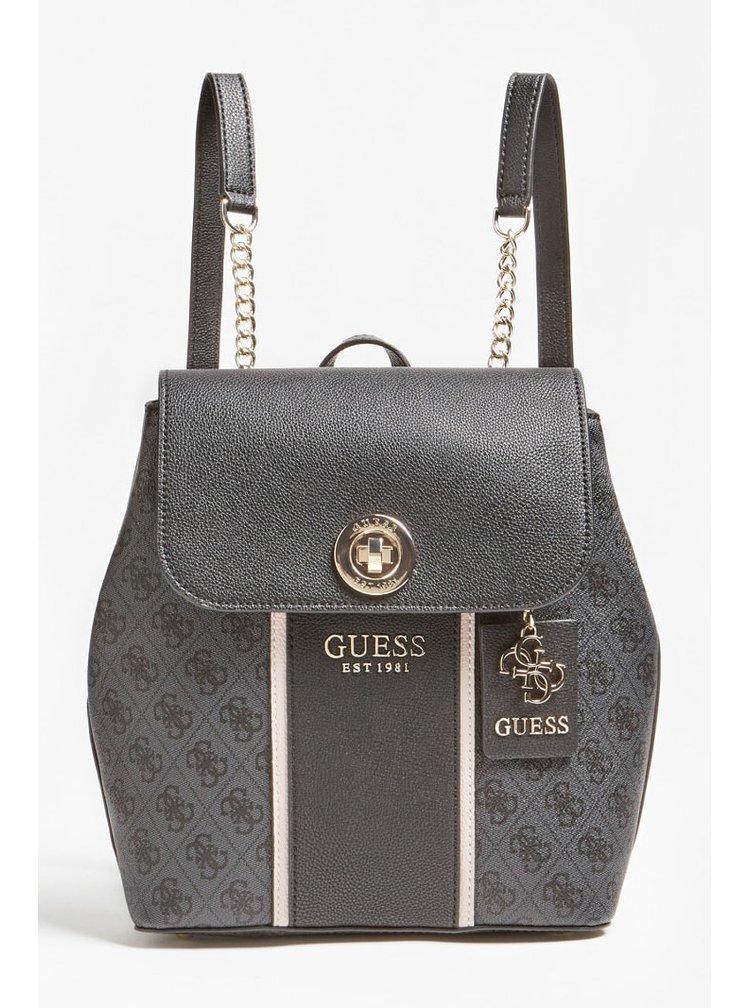 Guess černý batoh Cathleen 4G Logo